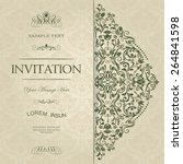 retro invitation or wedding... | Shutterstock .eps vector #264841598