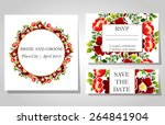 wedding invitation cards with... | Shutterstock .eps vector #264841904