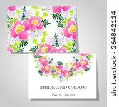 wedding invitation cards with... | Shutterstock .eps vector #264842114