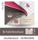 cup cake shop tri fold mock up  ... | Shutterstock .eps vector #264842840