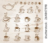 coffee design elements | Shutterstock .eps vector #264847598