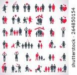 Happy Family Icon Set People...