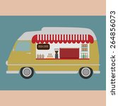 truck coffee | Shutterstock .eps vector #264856073