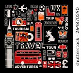 travel to england set. | Shutterstock .eps vector #264870290