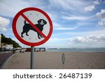 a sign on a beach meaning dogs... | Shutterstock . vector #26487139