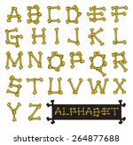 skeleton bones alphabet vector... | Shutterstock .eps vector #264877688