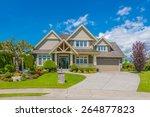big custom made luxury house... | Shutterstock . vector #264877823