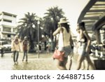 abstract of blurred people... | Shutterstock . vector #264887156