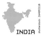 pixel art of india  frame  | Shutterstock .eps vector #264892118