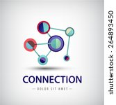 vector abstract connection ... | Shutterstock .eps vector #264893450