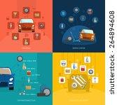 auto service design concept set ...   Shutterstock .eps vector #264894608