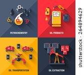 petroleum design concept set... | Shutterstock .eps vector #264894629