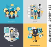 human resources design concept... | Shutterstock .eps vector #264894683