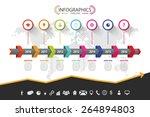 timeline infographic design....   Shutterstock .eps vector #264894803