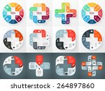 vector circle plus sign... | Shutterstock .eps vector #264897860
