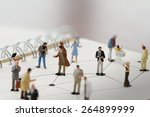 Close Up Of Miniature People...
