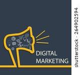 digital marketing concept....   Shutterstock .eps vector #264902594