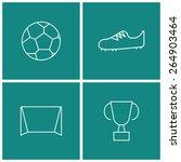 soccer thin line icon set | Shutterstock .eps vector #264903464