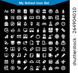 my school icon set | Shutterstock .eps vector #264904010