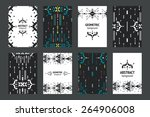set of geometric flyers ... | Shutterstock . vector #264906008
