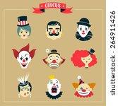 vintage hipster circus  freak...   Shutterstock .eps vector #264911426
