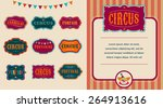 vintage hipster circus labels... | Shutterstock .eps vector #264913616
