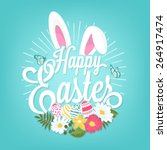 Happy Easter Typographical...