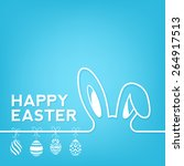creative happy easter... | Shutterstock .eps vector #264917513