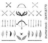 hand drawn tribal collection... | Shutterstock . vector #264918770