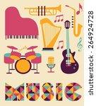 music set | Shutterstock .eps vector #264924728