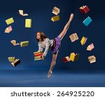ballerina in form of ... | Shutterstock . vector #264925220