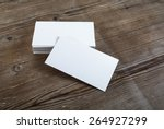 photo of blank business cards... | Shutterstock . vector #264927299