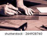 working process of the leather... | Shutterstock . vector #264928760