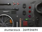 top view still life of bicycle... | Shutterstock . vector #264934694