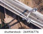 Aerial View Of Highway Bridge...