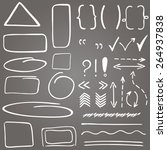 set of hand drawn correction... | Shutterstock .eps vector #264937838