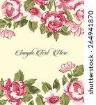 vintage floral card | Shutterstock .eps vector #264941870