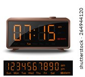 retro digital alarm clock with... | Shutterstock . vector #264944120