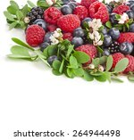 Corner Border Of Tasty Berries...