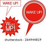 wake up  text embedded in the... | Shutterstock .eps vector #264944819