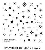 black sparkles symbols. vector...   Shutterstock .eps vector #264946130