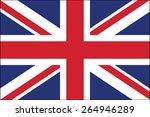 united kingdom flag vector | Shutterstock .eps vector #264946289