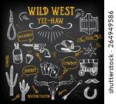 wild west design sketch. icons...   Shutterstock .eps vector #264949586