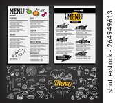 food menu  restaurant template... | Shutterstock .eps vector #264949613