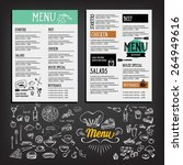 food menu  restaurant template... | Shutterstock .eps vector #264949616