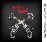 vintage revolver sketch design. ... | Shutterstock .eps vector #264949670