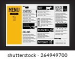 restaurant cafe menu  template... | Shutterstock .eps vector #264949700