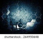 grunge abstract textured mixed... | Shutterstock . vector #264950648