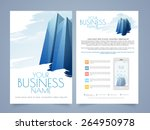 professional two page flyer... | Shutterstock .eps vector #264950978