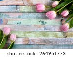 Bouquet Of Pink Fresh Tulips O...